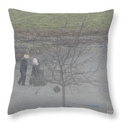 Two Little Buddies Throw Pillow