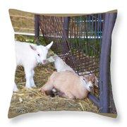 Two Little Goatlings Throw Pillow