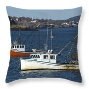 Two Lobster Boats Throw Pillow