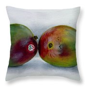 Two Mangoes Throw Pillow