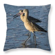 Two Marbled Godwits Throw Pillow