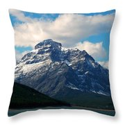 Two Medicine Lake And Rising Wolf Mountain Throw Pillow