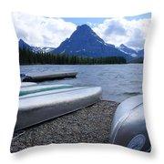 Two Medicine Lake Throw Pillow
