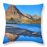 Two Medicine Lake Sunrise Panorama Throw Pillow