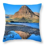 Two Medicine Reflections Throw Pillow