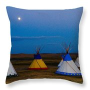 Two Medicine Teepees Throw Pillow