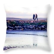 Two Men Went For A Walk Throw Pillow