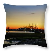 Two Mile Landing At Sunrise - Wildwood Crest New Jersey Throw Pillow