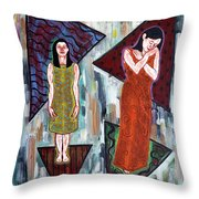 Two Minds In One Throw Pillow