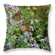 Two Monarchs Throw Pillow