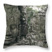 Two Monks In Orange Robes Stand Throw Pillow
