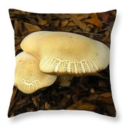 Two Mushrooms Throw Pillow