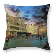 Two Nights In Brussels #21 Season's End Throw Pillow