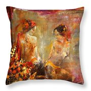 Two Nudes  Throw Pillow