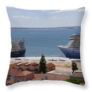 Magnificent Cruises Throw Pillow