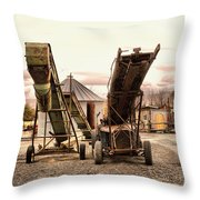 Two Old Conveyor Belts Throw Pillow