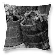 Two Old Pales Throw Pillow