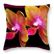 Two Orchids And A Bud Throw Pillow