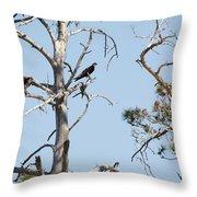 Two Osprey Throw Pillow