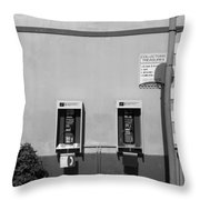 Two Pay Phones Throw Pillow