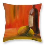 Two Pears And Merlot  Throw Pillow by Steve Jorde