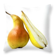 Two Pears Throw Pillow by Bernard Jaubert