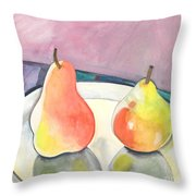 Two Pears Throw Pillow