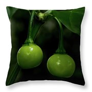 Two Peppers Throw Pillow