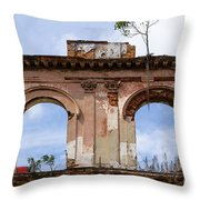 Two Picture Windows Throw Pillow