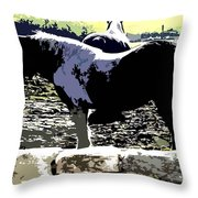 Two Ponies Throw Pillow