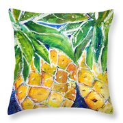 Two Purple Pineapples Throw Pillow