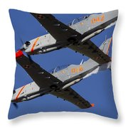 Two Pzl-130 Orlik Trainers Throw Pillow