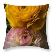 Two Ranunculus Throw Pillow