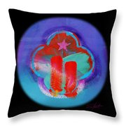 Two Red Towers Throw Pillow