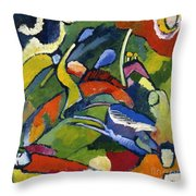 Two Riders And Reclining Figure Throw Pillow