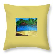 Two Rivers Throw Pillow