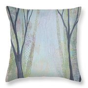 Two Roads I Throw Pillow