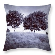Two Rowans The Cloddies, Nuneaton Throw Pillow