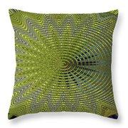 Two Saguaro Abstract #4496w3 Throw Pillow