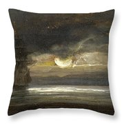 Two Sailing Boats By Moonlight Throw Pillow