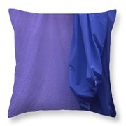Two Sheets Abstract Purple Blue Throw Pillow