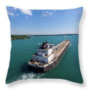 Two Ships Passing Throw Pillow