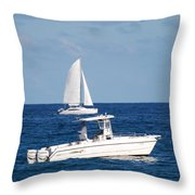 Two Ships That Pass Thru The Day Throw Pillow