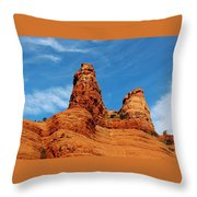 Two Sisters Formation Sedona Az Hbn2 Throw Pillow