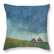 Two Sisters Houses Throw Pillow