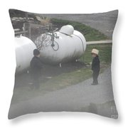 Two Small Friends Throw Pillow