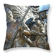 Two Soldiers Of The The African American Civil War Memorial -- The Spirit Of Freedom Throw Pillow