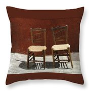 Two Spainisch Chairs  Throw Pillow
