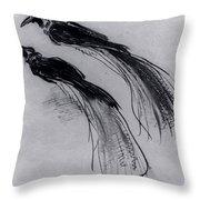 Two Studies Of A Bird Of Paradise 1630 Throw Pillow