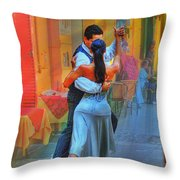Two Tango Throw Pillow